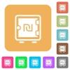 New Shekel strong box flat icons on rounded square vivid color backgrounds. - New Shekel strong box rounded square flat icons