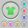 T-shirt push buttons - T-shirt color icons on sunk push buttons