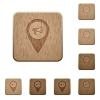 Voice navigation wooden buttons - Voice navigation on rounded square carved wooden button styles
