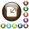 Resize window color glass buttons - Resize window white icons on round color glass buttons