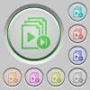 Jump to next playlist item push buttons - Jump to next playlist item color icons on sunk push buttons