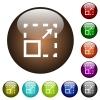 Maximize element color glass buttons - Maximize element white icons on round color glass buttons