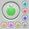 Apple push buttons - Apple color icons on sunk push buttons