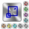 Maximize window rounded square steel buttons - Maximize window engraved icons on rounded square glossy steel buttons