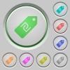 New Shekel price label push buttons - New Shekel price label color icons on sunk push buttons