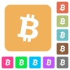 Bitcoin digital cryptocurrency rounded square flat icons - Bitcoin digital cryptocurrency flat icons on rounded square vivid color backgrounds.