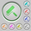 Paint roller push buttons - Paint roller color icons on sunk push buttons