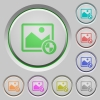 Protect image push buttons - Protect image color icons on sunk push buttons