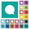 Chat square flat multi colored icons - Chat multi colored flat icons on plain square backgrounds. Included white and darker icon variations for hover or active effects.