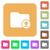 Upload directory rounded square flat icons - Upload directory flat icons on rounded square vivid color backgrounds.