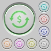 Dollar pay back push buttons - Dollar pay back color icons on sunk push buttons