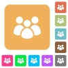 Team rounded square flat icons - Team flat icons on rounded square vivid color backgrounds.