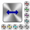 Resize horizontal rounded square steel buttons - Resize horizontal engraved icons on rounded square glossy steel buttons