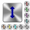 Resize vertical rounded square steel buttons - Resize vertical engraved icons on rounded square glossy steel buttons