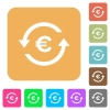 Euro pay back rounded square flat icons - Euro pay back flat icons on rounded square vivid color backgrounds.