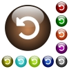 Undo changes color glass buttons - Undo changes white icons on round color glass buttons