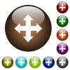 Move tool color glass buttons - Move tool white icons on round color glass buttons