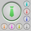 Tie push buttons - Tie color icons on sunk push buttons