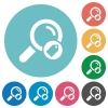 Search tags flat round icons - Search tags flat white icons on round color backgrounds