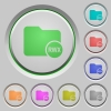 Directory permissions push buttons - Directory permissions color icons on sunk push buttons