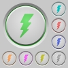 Lightning push buttons - Lightning color icons on sunk push buttons