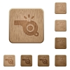 Whistle wooden buttons - Whistle on rounded square carved wooden button styles