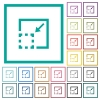 Minimize element flat color icons with quadrant frames - Minimize element flat color icons with quadrant frames on white background