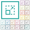 Maximize element flat color icons with quadrant frames - Maximize element flat color icons with quadrant frames on white background