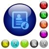 Paste contact color glass buttons - Paste contact icons on round color glass buttons
