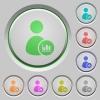 User account statistics push buttons - User account statistics color icons on sunk push buttons