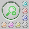 Find last search result push buttons - Find last search result color icons on sunk push buttons