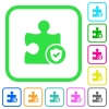 Plugin protected vivid colored flat icons - Plugin protected vivid colored flat icons in curved borders on white background