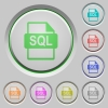 SQL file format color icons on sunk push buttons