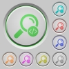 Search programming code color icons on sunk push buttons - Search programming code push buttons