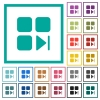 Component next flat color icons with quadrant frames - Component next flat color icons with quadrant frames on white background