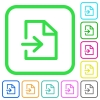 Import vivid colored flat icons - Import vivid colored flat icons in curved borders on white background
