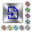 Import rounded square steel buttons - Import engraved icons on rounded square glossy steel buttons