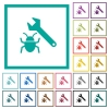 Bug fixing flat color icons with quadrant frames - Bug fixing flat color icons with quadrant frames on white background