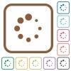 Preloader symbol simple icons in color rounded square frames on white background - Preloader symbol simple icons