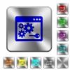 API key rounded square steel buttons - API key engraved icons on rounded square glossy steel buttons