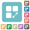 Extend component rounded square flat icons - Extend component white flat icons on color rounded square backgrounds