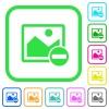 Remove image vivid colored flat icons - Remove image vivid colored flat icons in curved borders on white background
