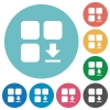 Download component flat round icons - Download component flat white icons on round color backgrounds