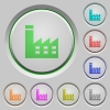 Factory building push buttons - Factory building color icons on sunk push buttons