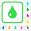 Drop vivid colored flat icons - Drop vivid colored flat icons in curved borders on white background