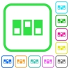 Switchboard vivid colored flat icons - Switchboard vivid colored flat icons in curved borders on white background