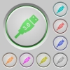 High speed USB push buttons - High speed USB color icons on sunk push buttons