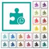 Copy plugin flat color icons with quadrant frames on white background - Copy plugin flat color icons with quadrant frames