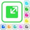 Resize window vivid colored flat icons - Resize window vivid colored flat icons in curved borders on white background