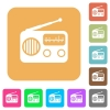 Vintage retro radio rounded square flat icons - Vintage retro radio flat icons on rounded square vivid color backgrounds.